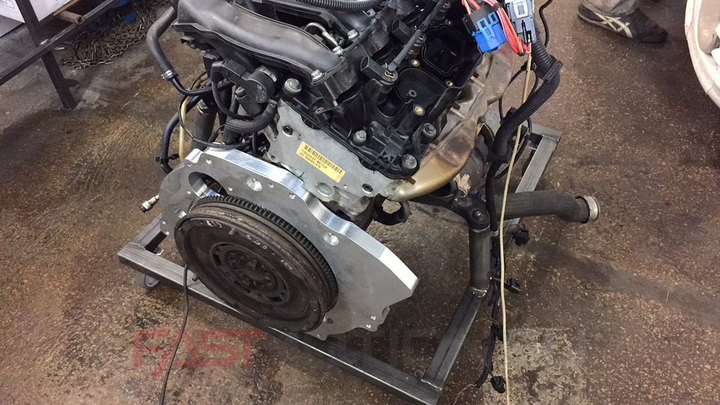 Gearbox adapter Patrol ZD30 gearbox to Bmw m57