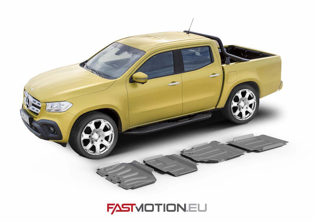 Mercedes Benz X-Class 2018-  SKIDPLATE - full kit (4 pcs)