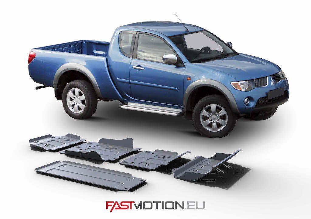 Mitsubishi L200 / Triton 2007-2015 KAOT SKIDPLATE - full kit w/ tank (5 pcs)