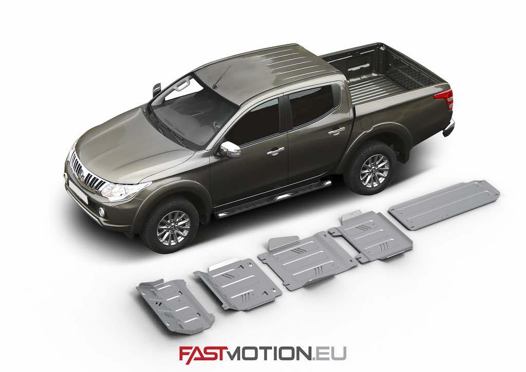 Mitsubishi L200 / Triton 2015- KL SKIDPLATE - full kit w/ tank (5 pcs)