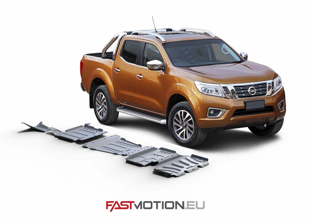 Nissan Navara 2005-2015 D40 SKIDPLATE - full kit w/o tank (4 pcs)