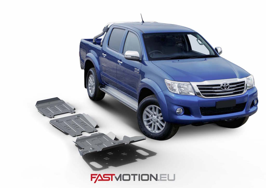 Toyota Hilux 2007-2015 Vigo SKIDPLATE - full kit w/o tank (3 pcs)