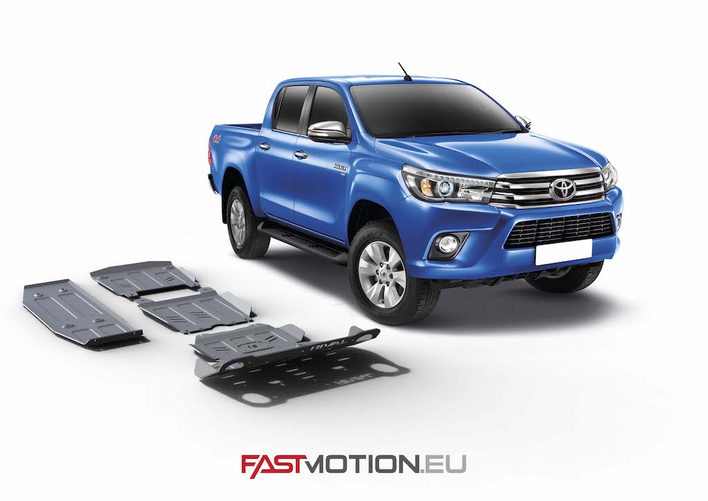 Toyota Hilux 2015- Revo SKIDPLATE - full kit w/ tank (4 pcs)