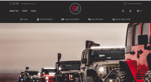 front page view of FastMotion.EU 4x4 shop
